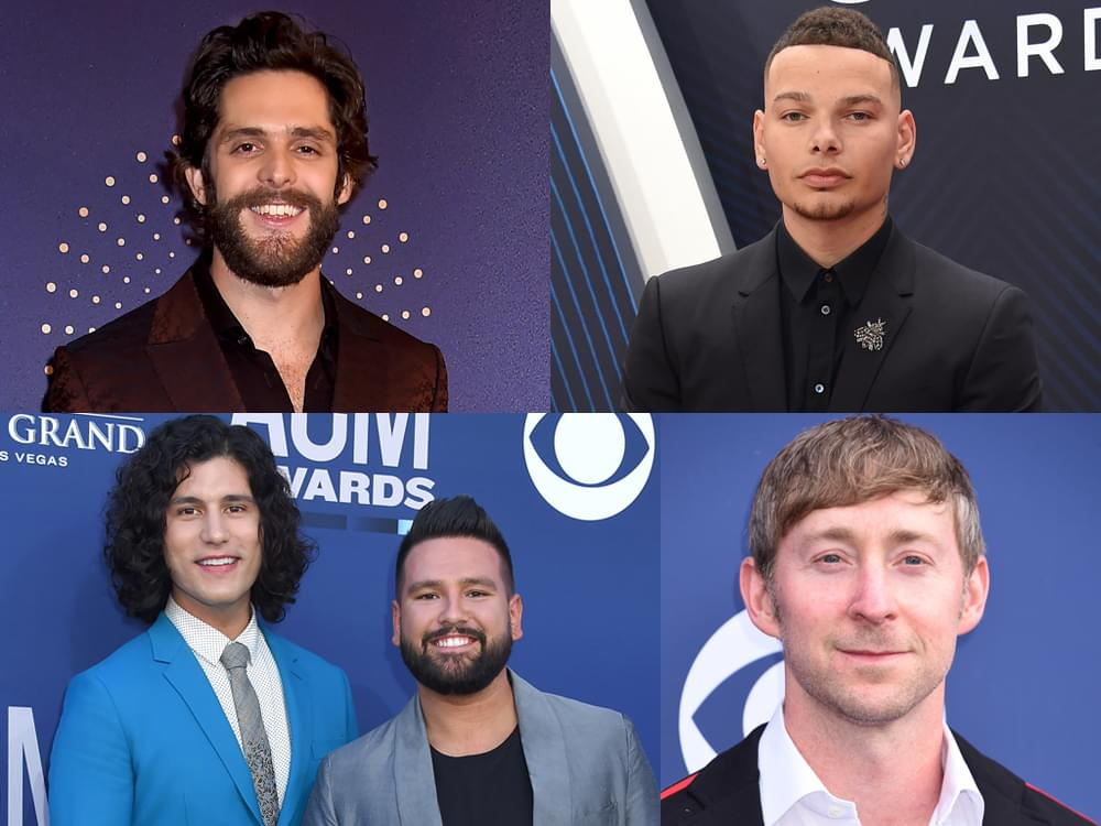 Thomas Rhett, Kane Brown, Luke Combs, Dan + Shay, Ashley Gorley & More Earn CMA Triple Play Awards