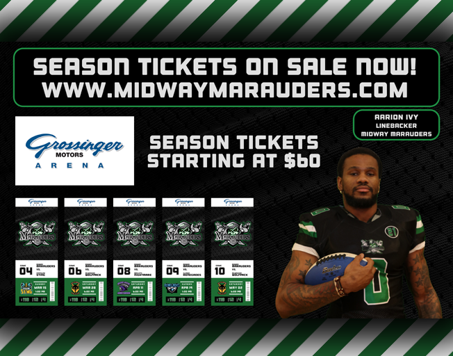 Win a 4-Pack of Season Passes to Midway Marauders Football
