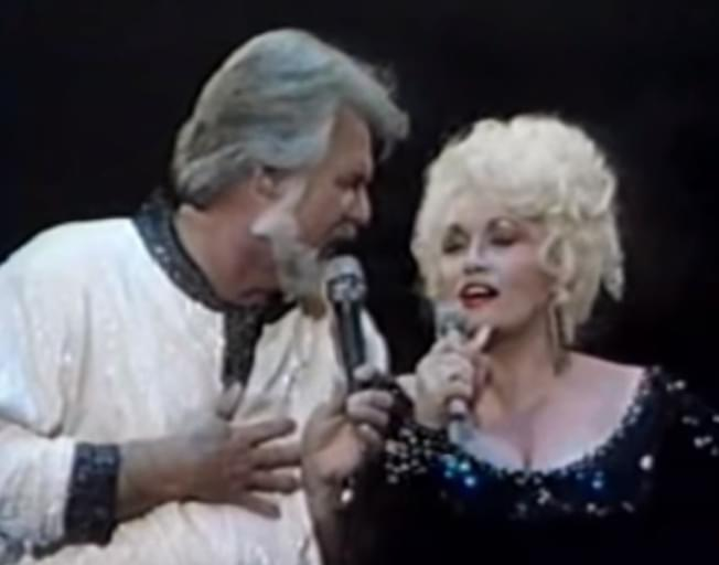 Kenny Rogers and Dolly Parton sing