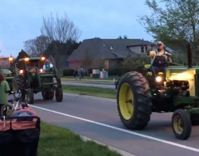 Parade of John Deere Tractors and Pickup Trucks Honor Joe Diffie [VIDEO]