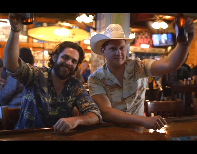 "Thomas Rhett and Jon Pardi at Number One with ""Beer Can't Fix"""