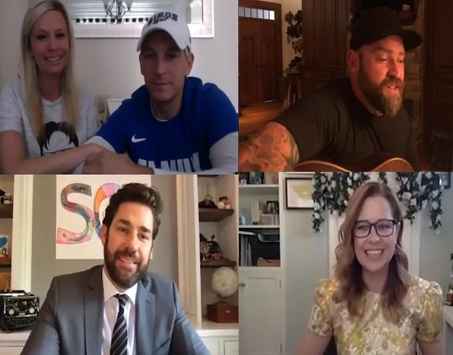 The Office Cast Reunites For Zoom Wedding With Zac Brown [VIDEO]