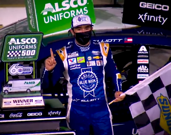 Chase Elliott's Luck Finally Changes with a NASCAR Win at Charlotte [VIDEO]