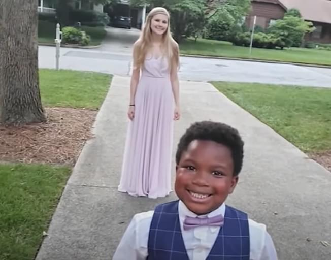 Adorable 7 Year Old Throws Mini Prom For His Babysitter [VIDEO]