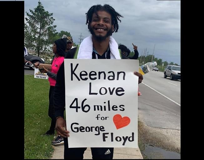 Inspiring Young Man, Keenan Love, Walks 46 Miles From Chicago To Kankakee To Honor George Floyd