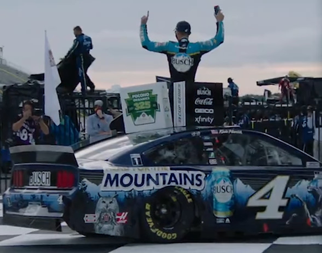 Kevin Harvick gets First Win at Pocono Doubleheader Weekend [VIDEO]