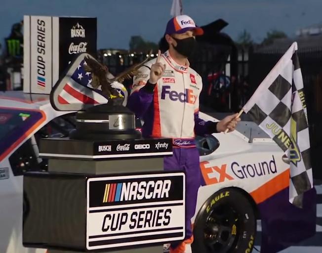 Denny Hamlin Scored the Win in the 2nd Pocono Race of NASCAR's Doubleheader Weekend [VIDEO]