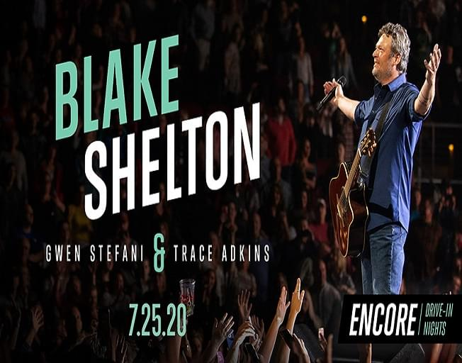 Blake Shelton Hosts ONE NIGHT ONLY Drive-In Concert Event July 25th