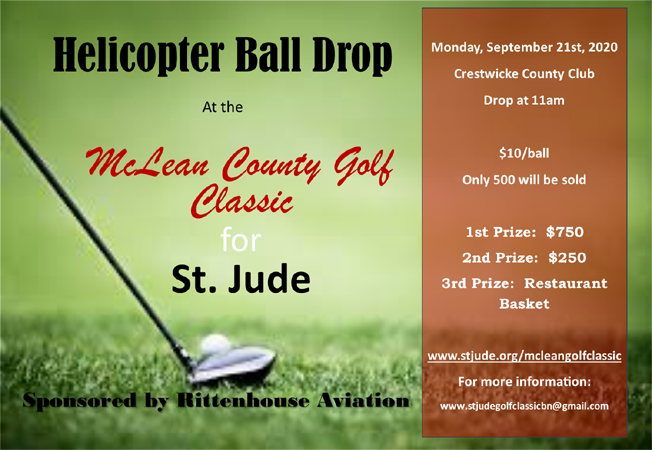 2020 St. Jude Golf Classic Helicopter Ball Drop