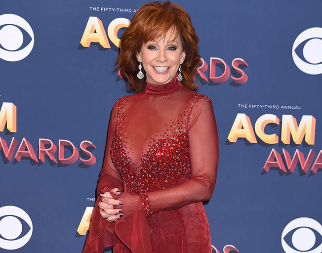 Reba on the ACM Awards Red Carpet