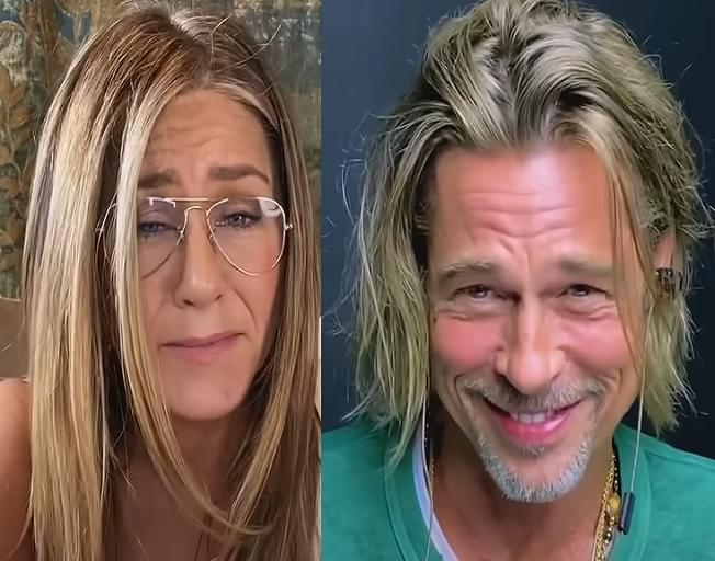 """Brad Pitt and Jennifer Aniston Reunite For A Star-Studded """"Fast Times at Ridgemont High"""" Table Read"""