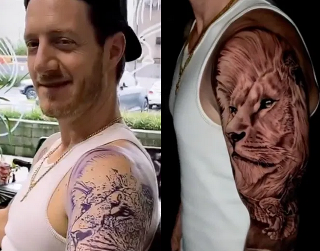Florida Georgia Line's Tyler Hubbard Shows Off New Lion Ink By Famed Tattoo Artist Bubba Irwin