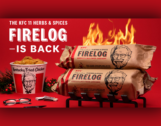 KFC Has Fried Chicken-Scented Firelogs