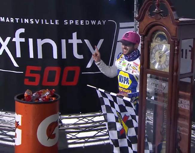 Elliott Wins to Get In and Harvick is Eliminated as NASCAR Championship Four is Set at Martinsville [VIDEO]