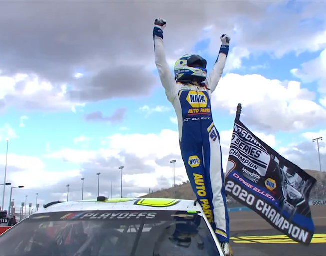 Chase Elliott Goes Worst to First at Phoenix to Win NASCAR Championship