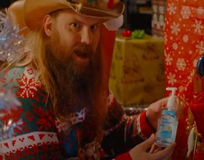 Chris Stapleton Wants Everyone To 'Disinfect The Halls' With New COVID Christmas Album On 'Kimmel'