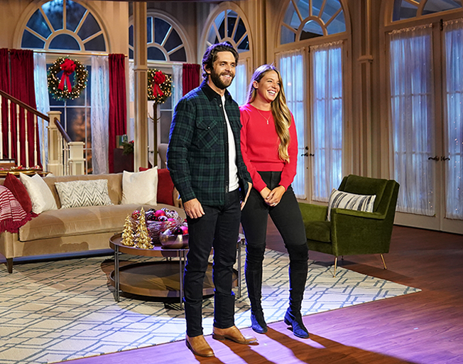 Thomas Rhett and His Wife Lauren Look Forward to Hosting 'CMA Country Christmas' Together Next Week