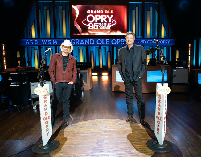 Brad Paisley & Blake Shelton Will Host GRAND OLE OPRY: 95 YEARS Of COUNTRY MUSIC