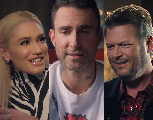 Adam Levine Plays Matchmaker for Gwen Stefani and Blake Shelton in T-Mobile Super Bowl Commercial [VIDEO]