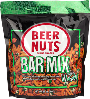 Beer Nuts Bar Mix with Wasabi