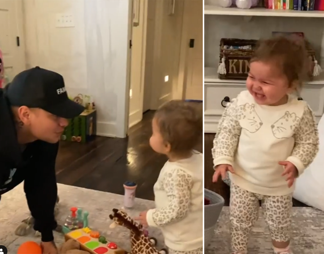 Kane Brown's Daughter Kingsley Can't Stop Giggling In Adorable New Video