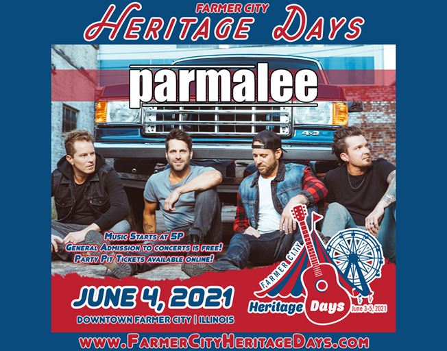 Parmalee at Farmer City Heritage Days Friday, June 4, 2021
