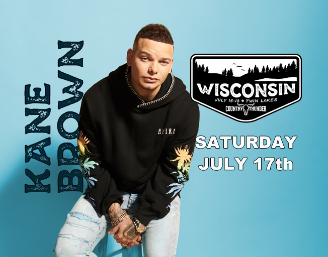 Kane Brown at Country Thunder in Twin Lakes, Wisconsin
