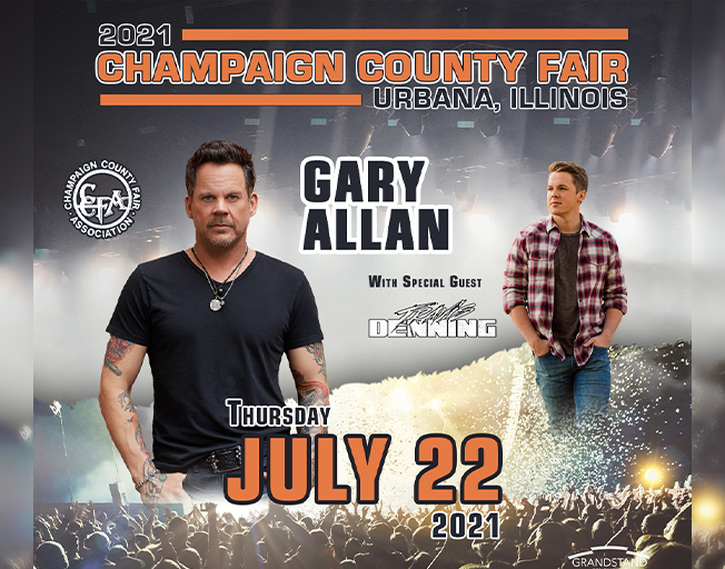 Gary Allan with special guest Travis Denning at the Champaign County Fair Thursday, July 22, 2021