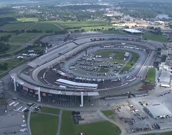 Aerial view of Dover International Speedway 05-23-20