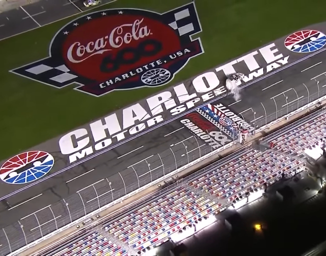 2020 Coca-Cola 600 start finish line