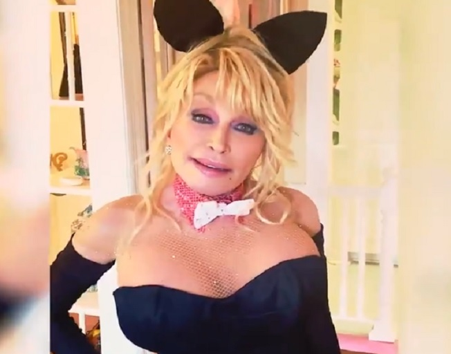 Dolly Parton Recreates 1978 Playboy Cover For Husband Carl's Birthday