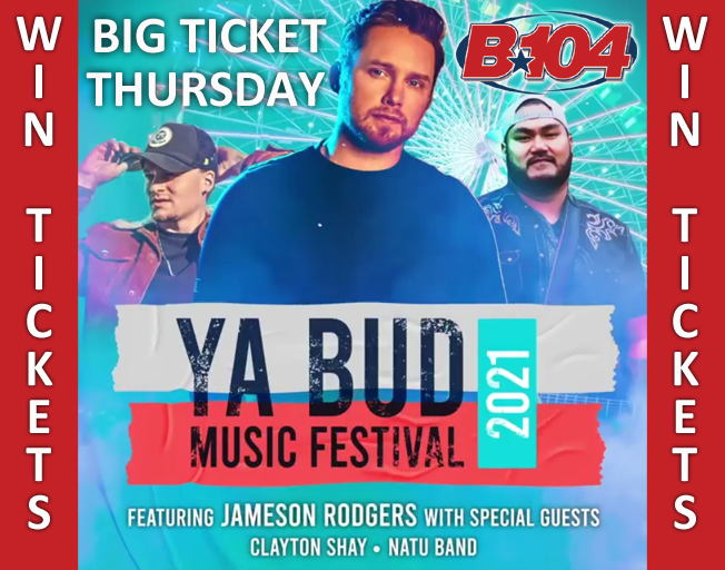 Win Tickets to Jameson Rodgers with B104's Big Ticket Thursday