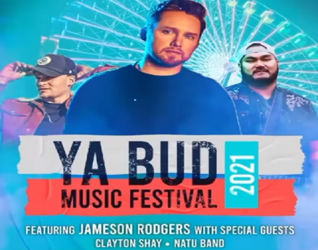 Win Tickets To Jameson Rodgers at the Ya Bud Music Festival With a Text 2 Win Weekend