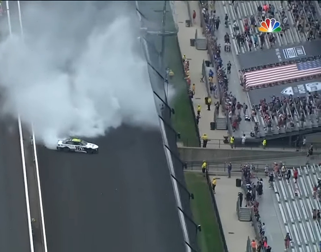 AJ Almendinger Wins and Denny Hamlin Clinches in NASCAR Race at Indianapolis Road Course [VIDEO]