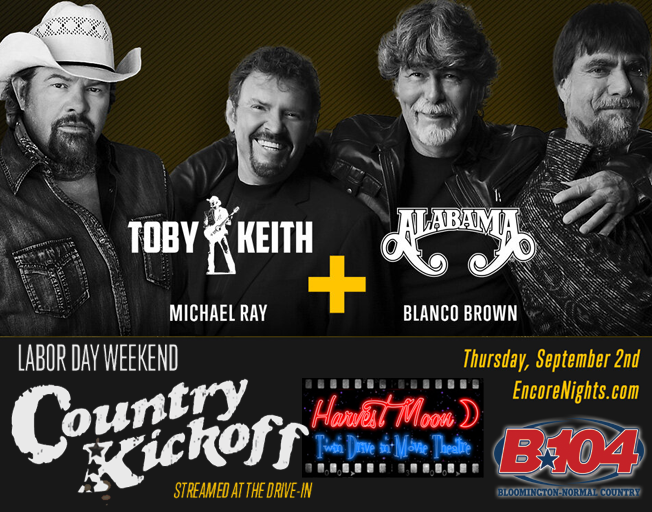 Win a Carload of Tickets to the Labor Day Weekend Country Kickoff  with Toby Keith & Alabama
