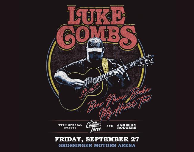"Luke Combs ""Beer Never Broke My Heart Tour"" at Grossinger Motors Arena Friday, September 27, 2019"