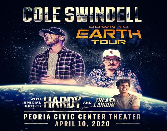 Cole Swindell Brings 'Down To Earth Tour' To Peoria Civic Center
