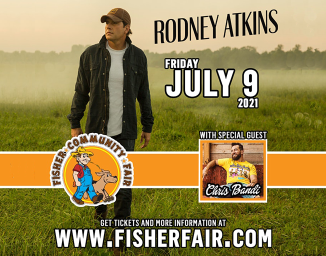 Rodney Atkins Replaces Jimmie Allen at 2021 Fisher Fair