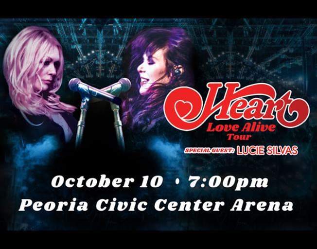 Win Tickets To Heart In Concert At The Peoria Civic Center