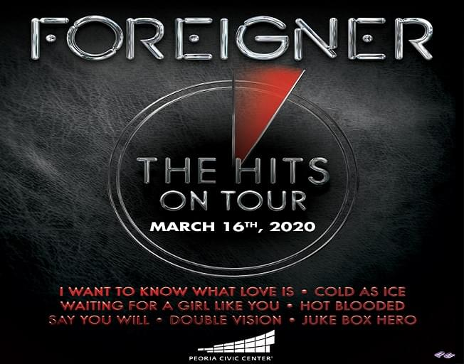 Win Tickets To Foreigner As A WJEZ VIP