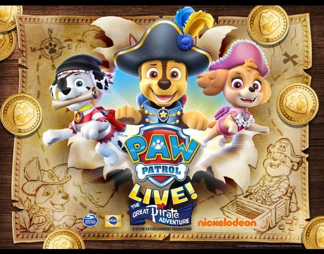 Win Tickets to Paw Patrol Live! in the WJEZ Ticket Window