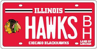 Blackhawks number one in license plate program
