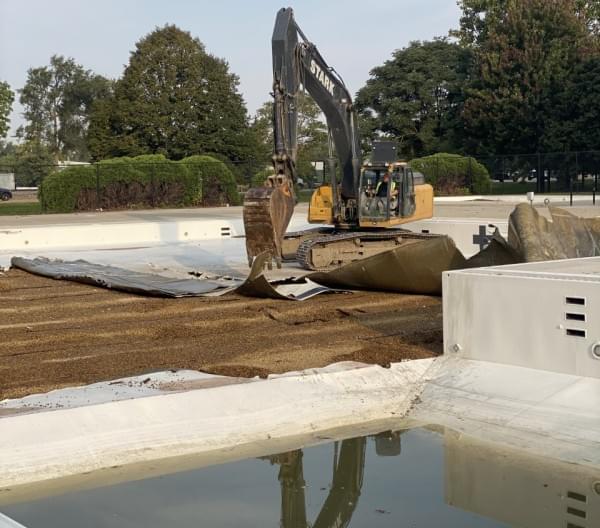 Demolition of O'Neil Pool underway
