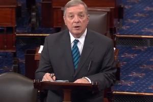 "In Senate floor speech, Sen. Durbin says Normal is taking America ""to the next generation"""
