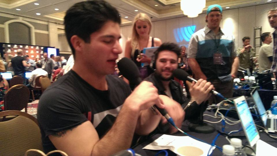 IS JIM INTERVIEWING DAN + SHAY FROM THE BATHROOM?