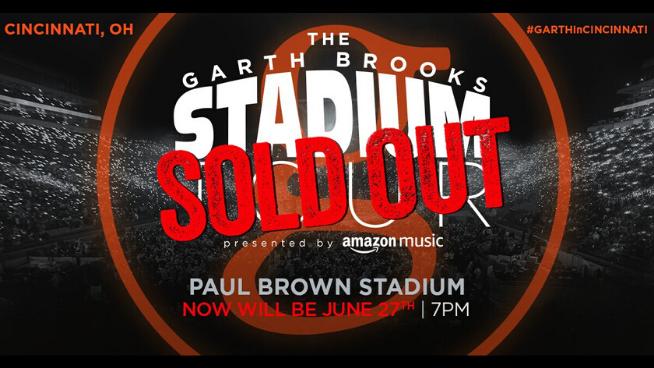 June 27 – Garth Brooks Stadium Tour – SOLD OUT