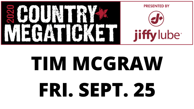 September 25 – Tim McGraw CANCELLED