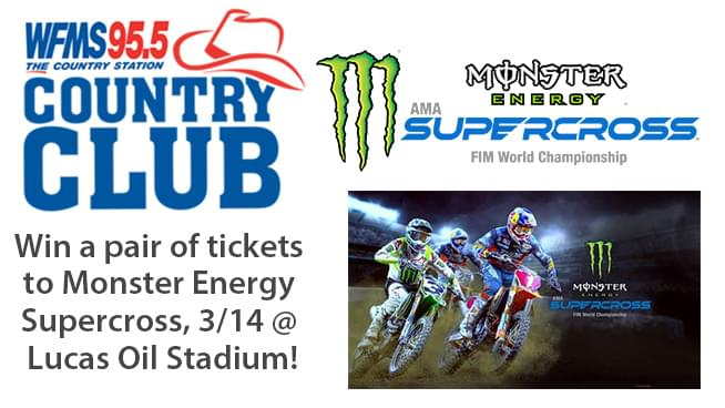 Win a pair of tickets to Monster Energy Supercross! Country Club Secret Contest