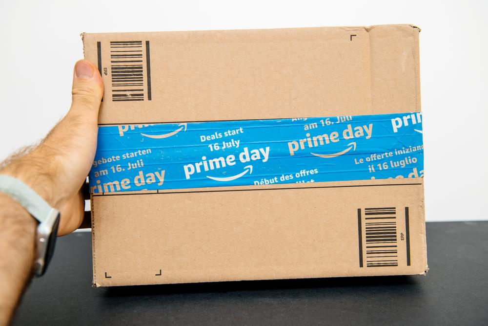 Amazon Prime day special security seal for the sale day