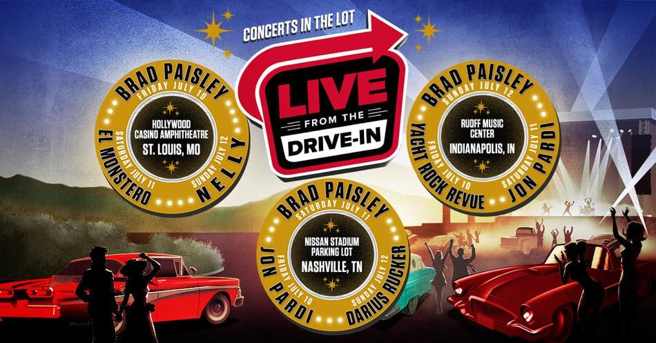 July 12—Brad Paisley Live From The Drive-In